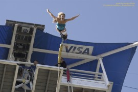 Trish Stratus takes the plunge at AJ Hackett bungee jump in Bali, Indonesia on STRATUSPHERE.