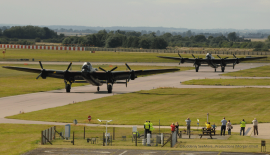 VeRA and Thumper taxiing down the runway together for the very first time.  Aviation history is about to be made as they take to the sky.