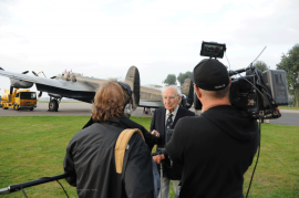 A Veteran of Bomber Command sharing his experiences of flying a Lancaster during wartime.