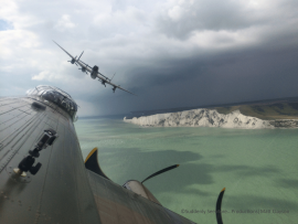 Flying by Beachy Head en route to the Eastbourne Airshow–the first airshow of a very busy six week schedule of performances.